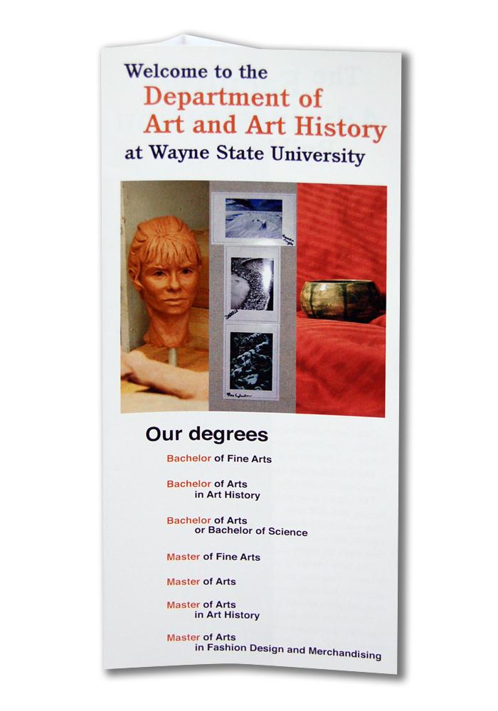 Wsu Art Department Brochure By Jennifer Quinn At Coroflot Com