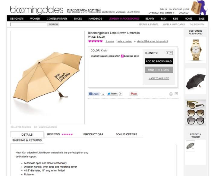 4500a437cae Bloomingdale s   little brown umbrella by Shane Denoon at Coroflot.com