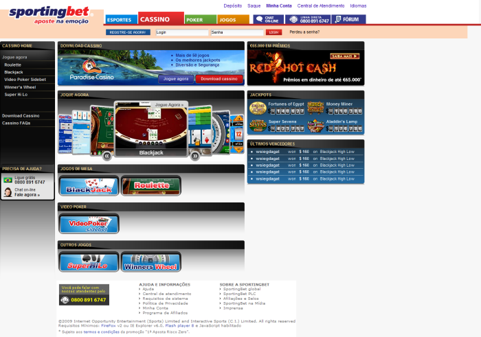 paradise casino sportingbet