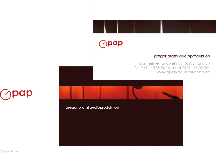 Logos business cards by janis elko at coroflot gpap logo and business card design for gpap a frankfurt based recording studio colourmoves