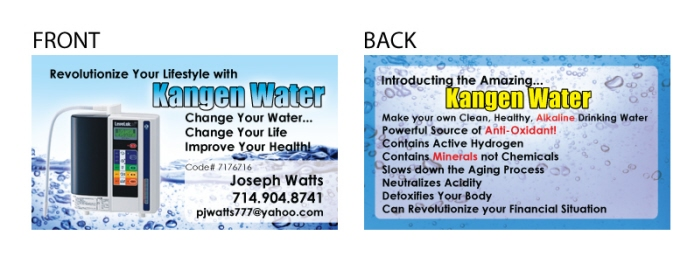 Business cards by vincent john alcantara at coroflot kangen water colourmoves