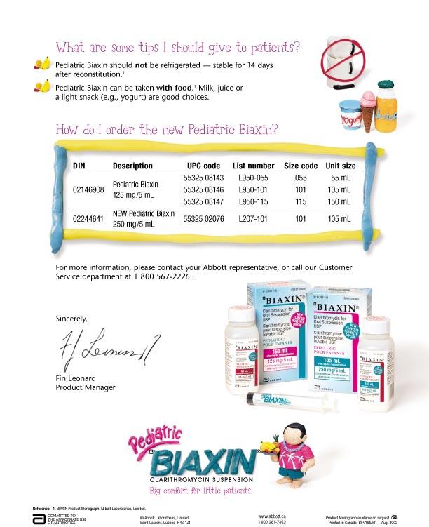 Non pescription biaxin