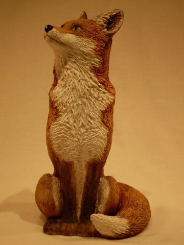 Ceramic Sitting Fox By Lynn Hazel By Lynn Hazel At