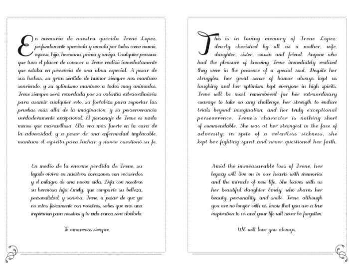 Memorial Pamphlet by Elizabeth Lopez at Coroflot com
