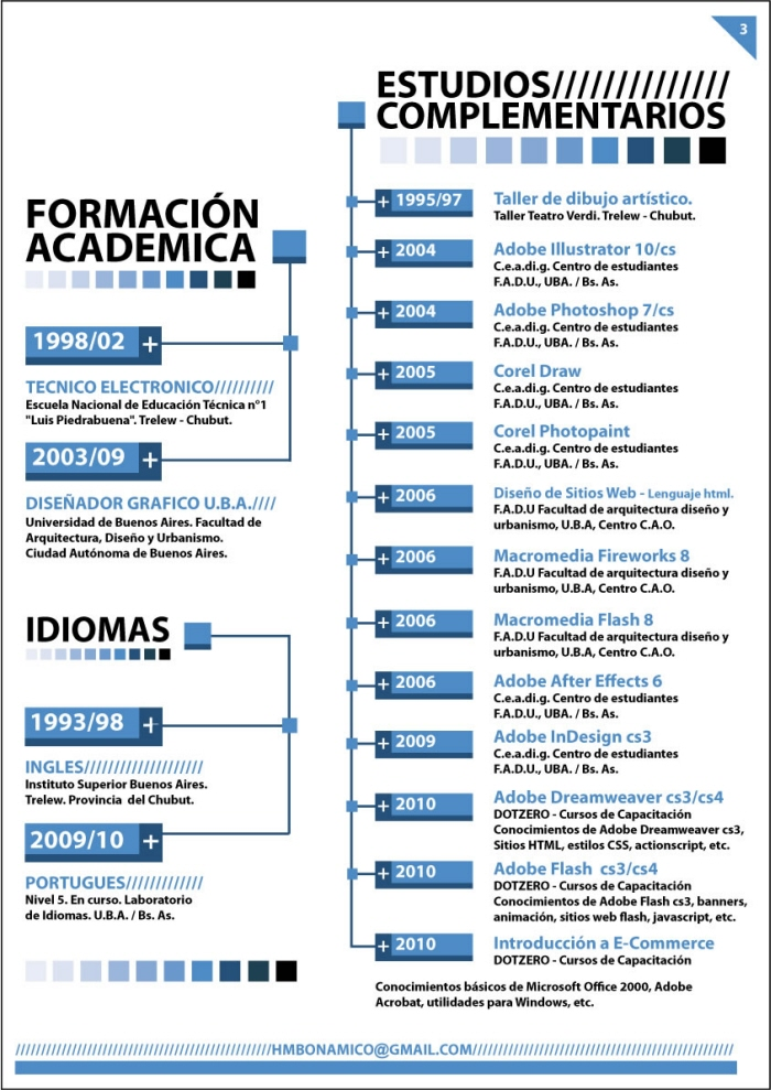 cv by hector matias bonamico at coroflot com