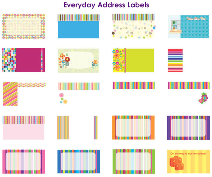return address label designs 2 by barbara boutin at coroflot com