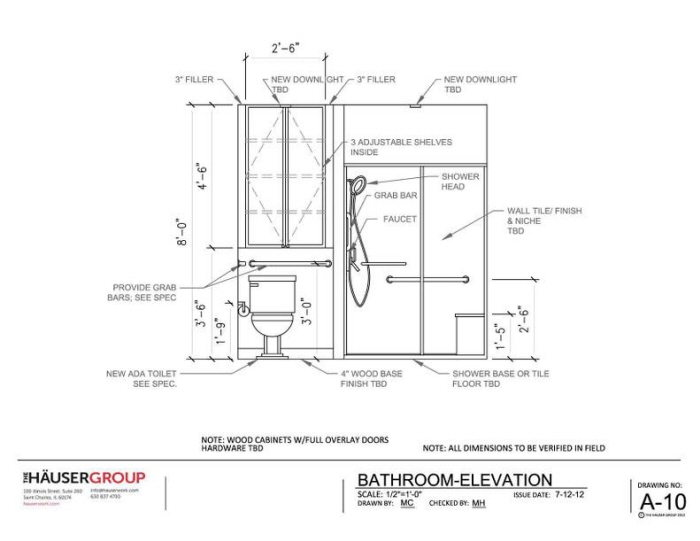 Front Elevation Of Bathtub : Thg residential pricing set by mary cokaric at coroflot