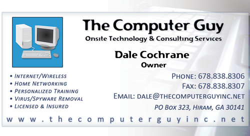 Cwtr free business card by coran spicer at coroflot free busn cards the computer guy developed as part of an in store promotion providing free business cards with a discount card on the back reheart Choice Image