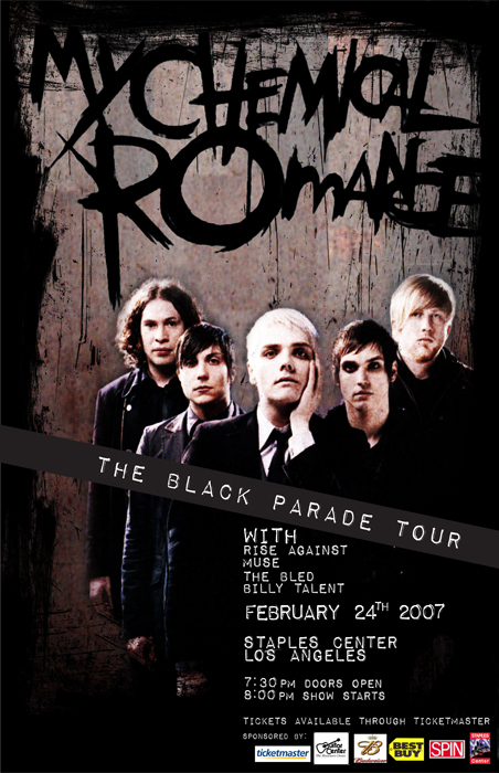 My Chemical Romance Tour >> My Chemical Romance Concert Collateral By Kat Chaffin At Coroflot Com