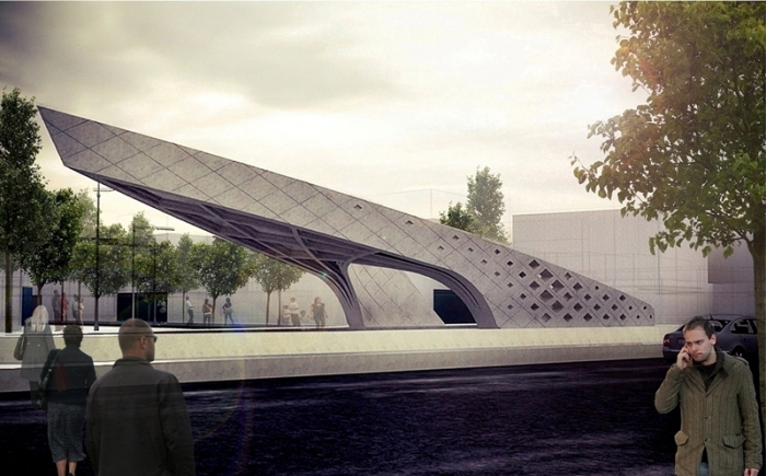 Monument Of Central Square By Farzan Shamasblou At