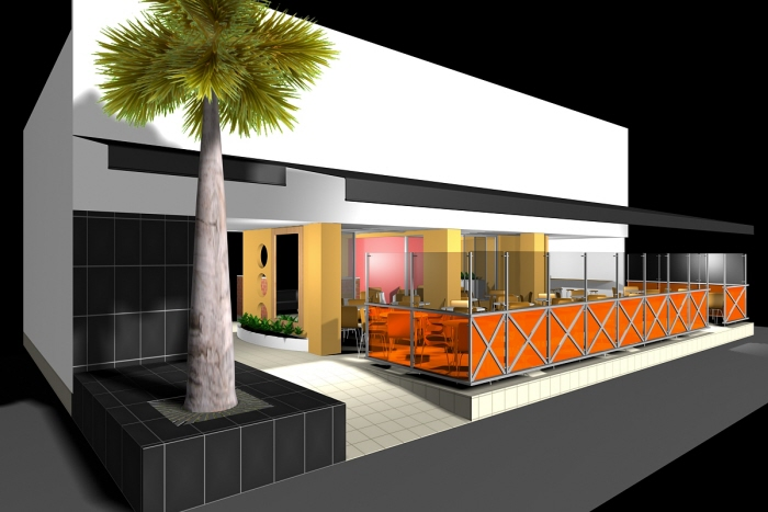 Diseño Terraza Milan Restaurante 2009 By Arq Oscar Alvarez