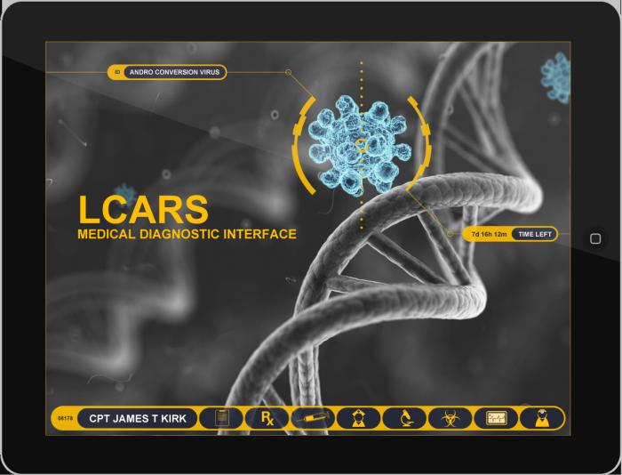 iPad Star Trek LCARS Interface by S  Flavio Espinoza at Coroflot com