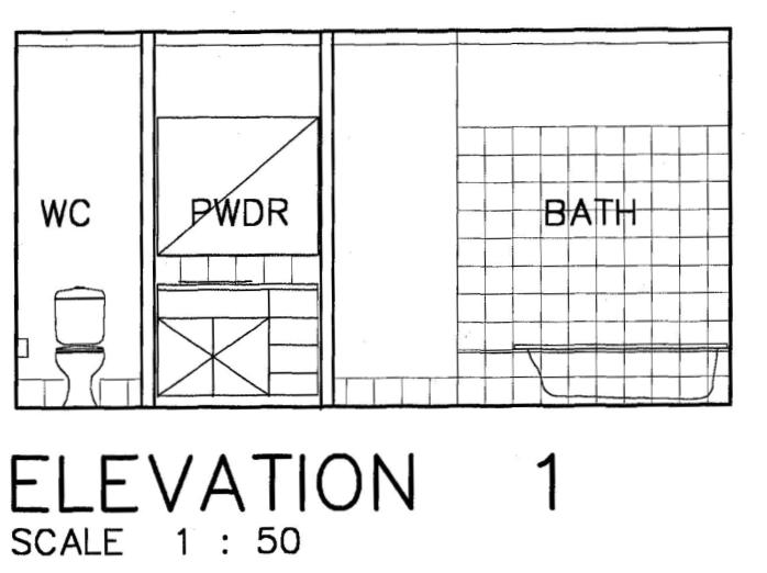 ELEVATION Bathroom Detail No 4