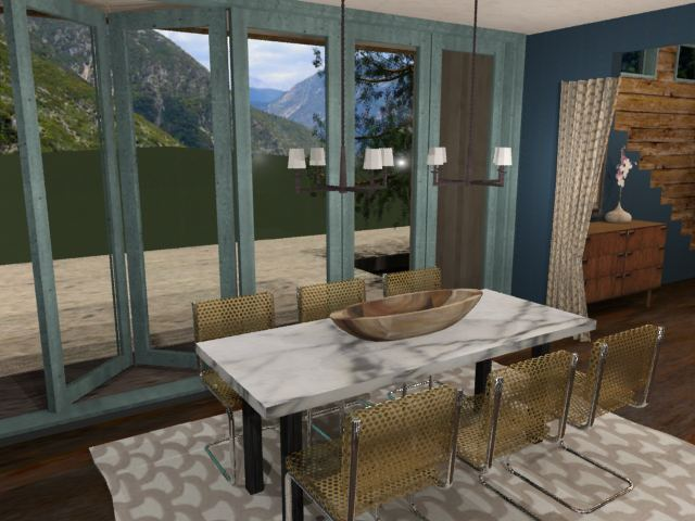 Modern Mountain House-3ds Max Design Project by Jessica