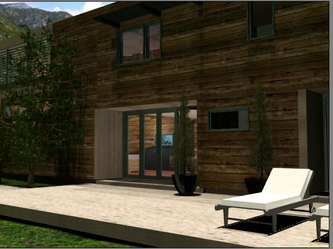 Modern Mountain House-3ds Max Design Project by Jessica Scofield at