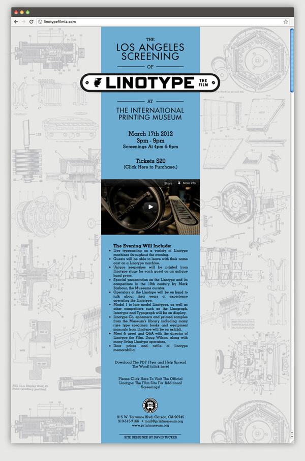 Linotype: The Film - LA Branding by David Tucker at Coroflot com