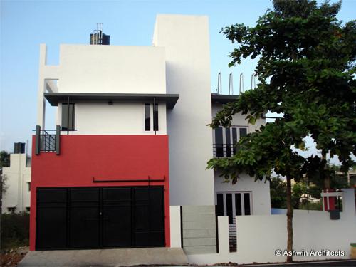 Modern Duplex House Design In Bangalore India By Ashwin Architects