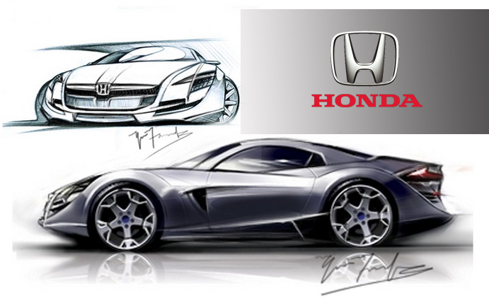 Concept cars rough sketches by Yaser Farook at Coroflot.com