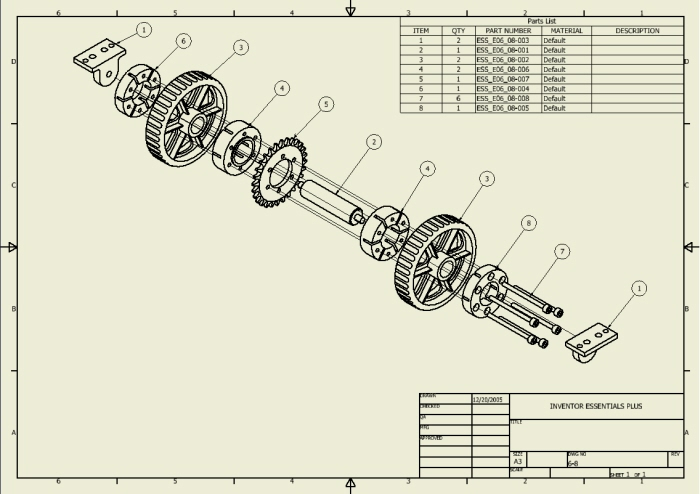 Autodesk Inventor Drawing Views By Alejandro Flores At