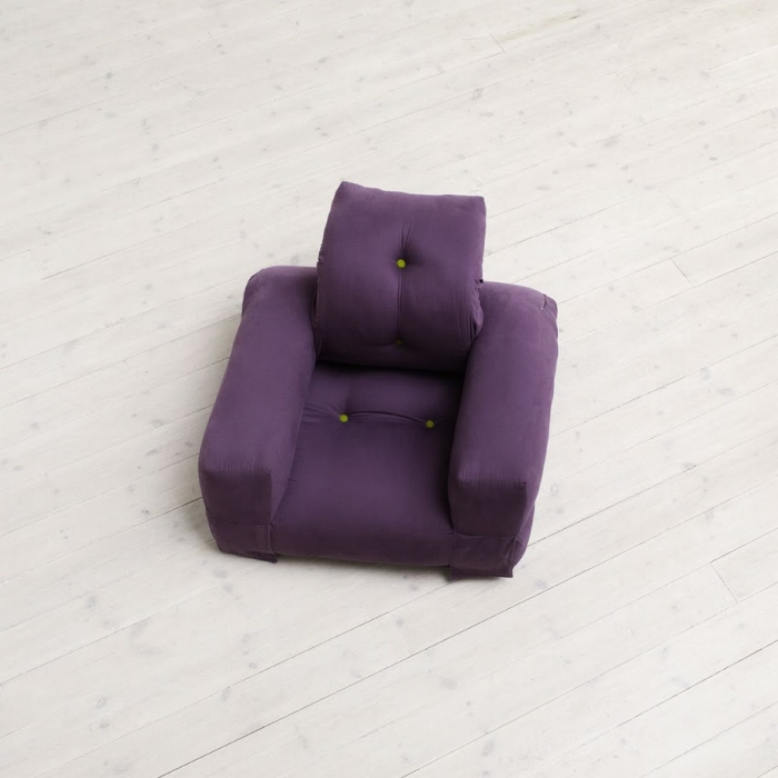 Hippo Chair | Purple Cotton   Hippo Is   Just As Nest/Nido   A Redesign Of  A Traditional Futon Furniture Designed For Small Spaces