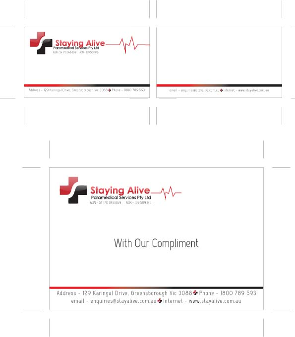 Stay alive stationary set by mahnaz afshar at coroflot business card and camplimentary card reheart Choice Image