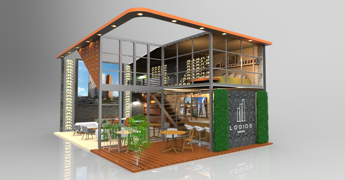 Property Exhibition Booth : Logios apartement booth exhibition indonesia property expo by