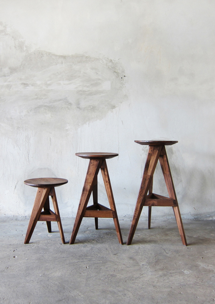 Piece Round Stool Amp Bar Stool By Take Home Design At