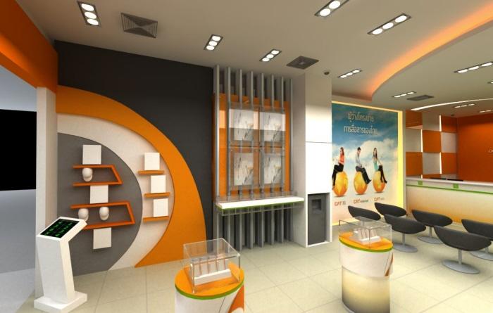 Exhibition Booth Bangkok : Cat telecom shop by sd design at coroflot