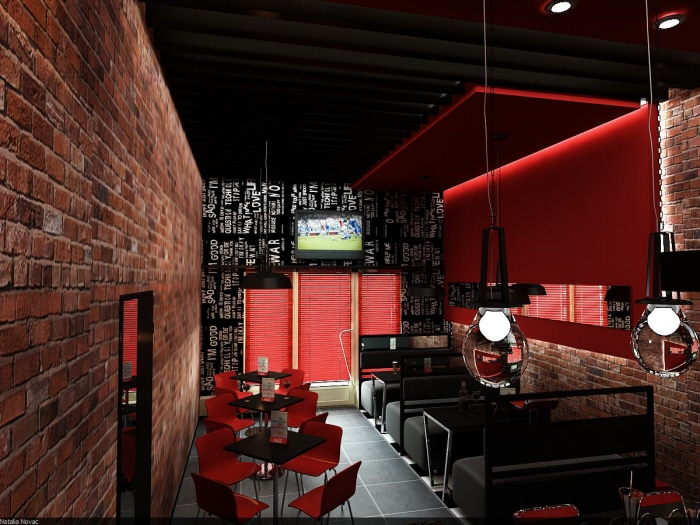 Cafe Bar Interior Design By Novac Natalia At Coroflot Com