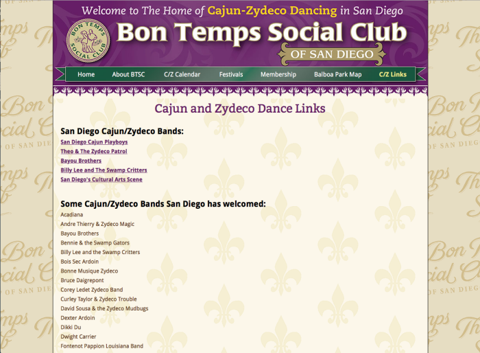 Bon Temps Social Club Of San Diego By James Hance At Coroflot Com