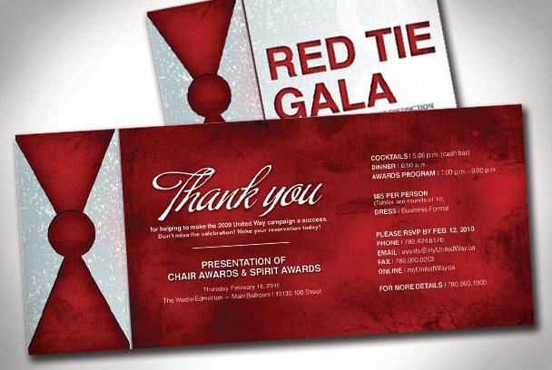 Red Tie Gala Invitation by Rachel Royer at Coroflot com