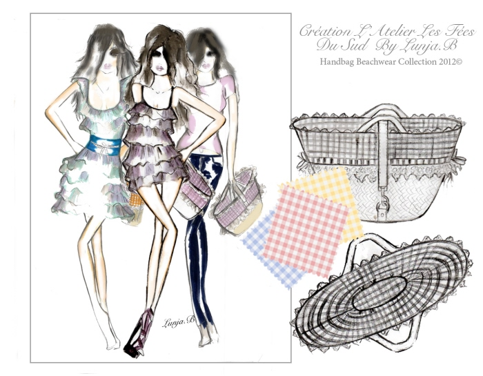 Handbag Beachwear Creation by Farah Jellel Our BRIENNE at Coroflot.com