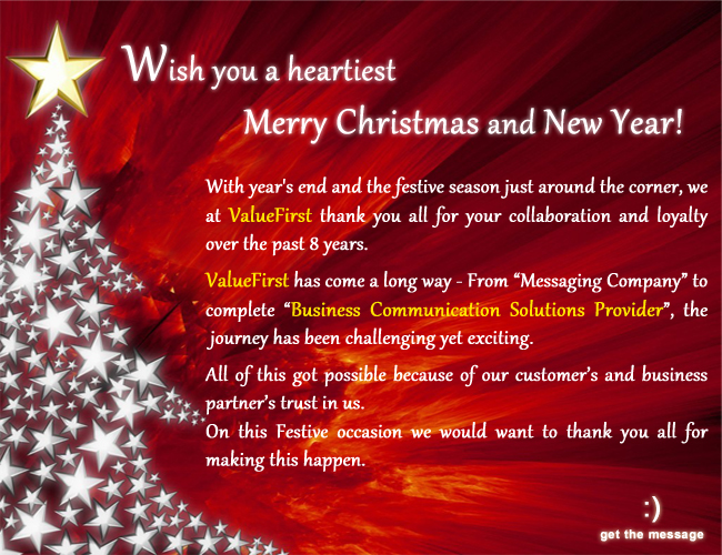 Corporate communications festival design mailers by aman arya at wish you a heartiest merry christmas and new year e mailer design corporate communications festival design mailers for the sample jpgg m4hsunfo