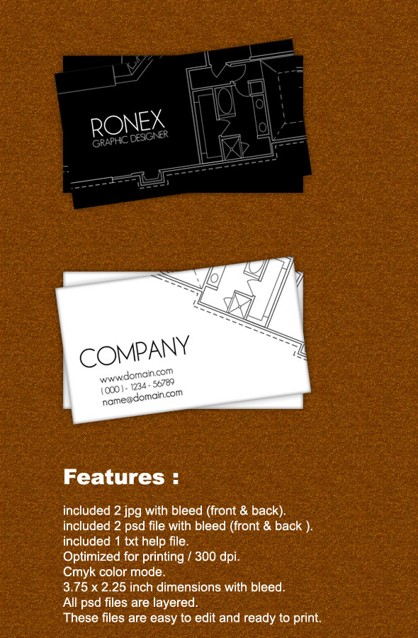 Creative business card by noufal ap at coroflot architect business card features easy to edit optimized for printing 300 dpi cmyk color mode 375 x 225 inch dimension included bleed reheart Image collections