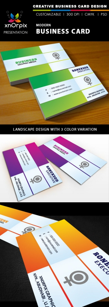 Creative business card by noufal ap at coroflot modern business card features easy to edit landscape design optimized for printing 300 dpi cmyk color mode 375 x 225 inch dimension included reheart Image collections