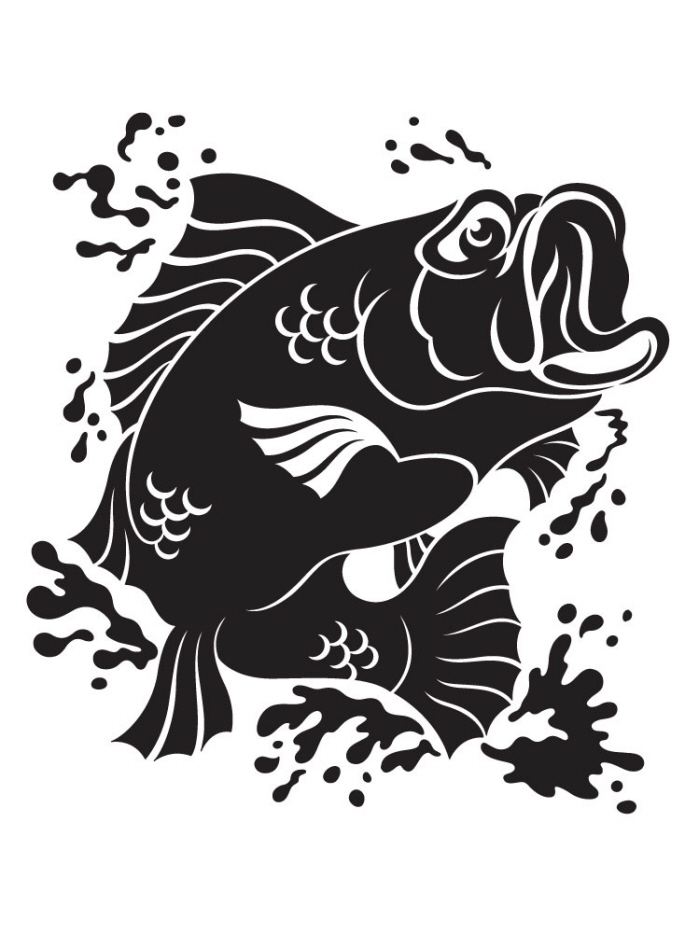 stencils fishing scroll saw patterns bass fish coroflot wall jesse hernandez gone silhouette obrazku výsledek pro gemerkt von nl google