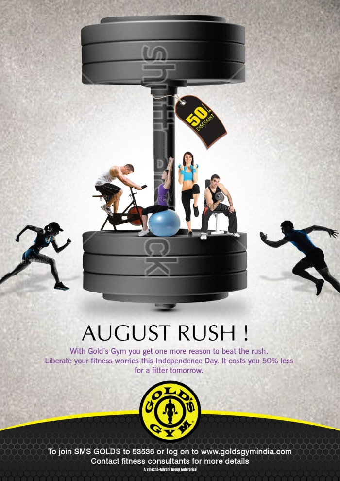 Gold's Gym ( august offer ) by aditi satpute at Coroflot.com