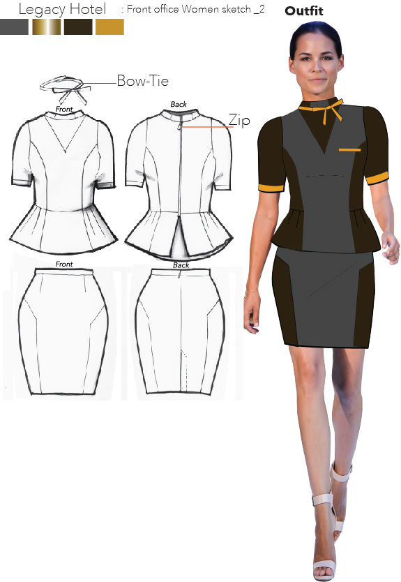 Chic Hotel Uniform Designs By Chaow Rata At Coroflot Com