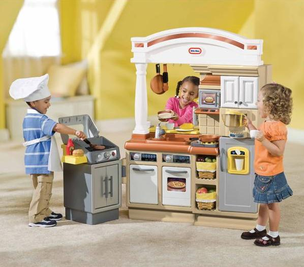 Sizzle Serve Kitchen The Little Tikes Features A New Contemporary Colonial Archway That Lets Kids Food To Friends And