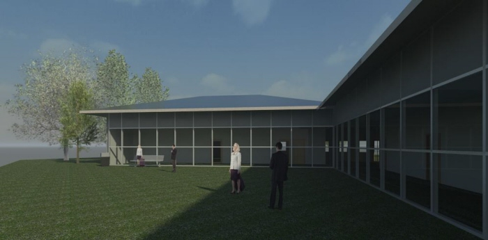 Community Center - Revit 2012 by Camille Andres at Coroflot com