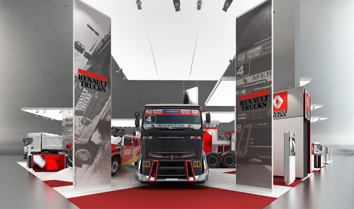 Exhibition Stand Design Moscow : Renault trucks exhibition stand by igor iastrebov at
