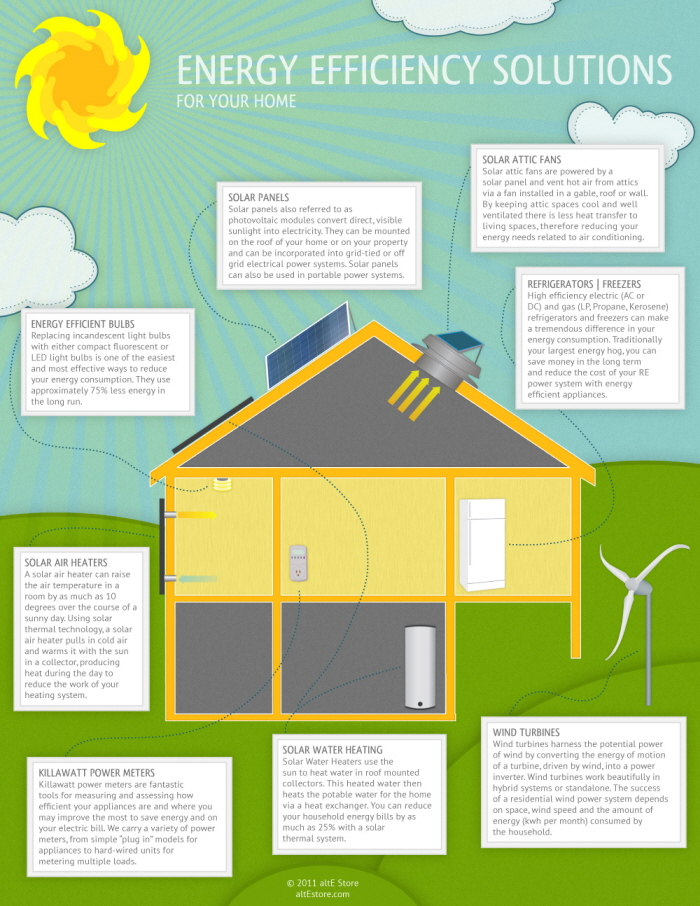 Infographic Energy Efficiency Solutions For Your Home By