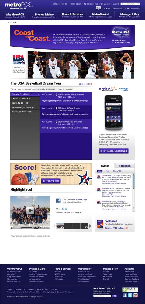 MetroPCS & USA Basketball by Devin Gonzales at Coroflot com