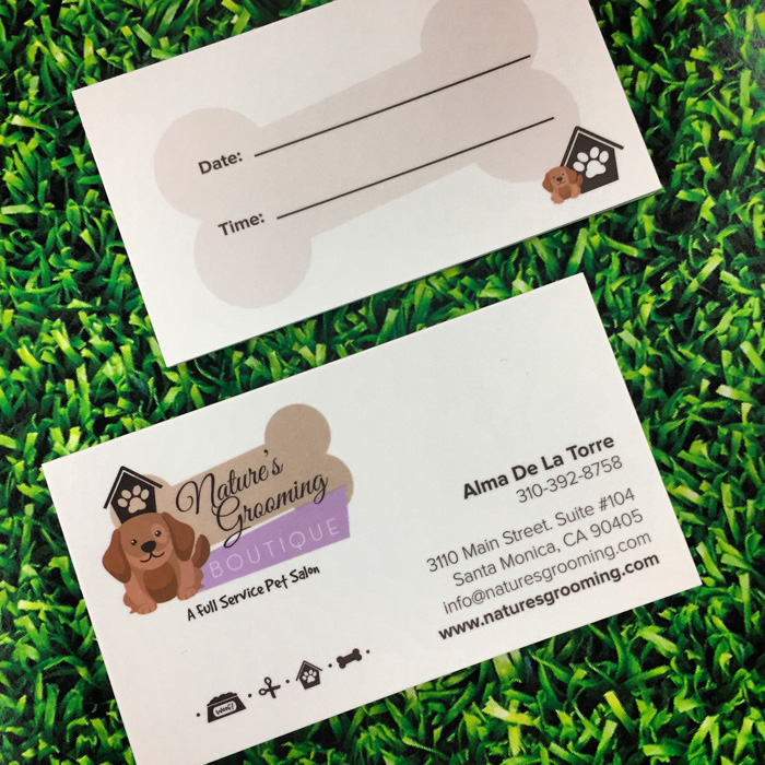 Natures grooming boutique by jenny fernndez at coroflot business cards colourmoves