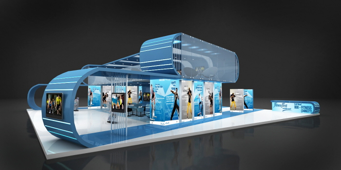 Exhibition Stand Design Coroflot : Exhibition stand fitness first by theosign design at