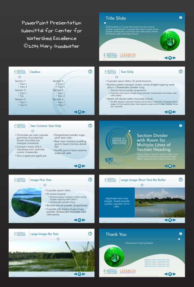 Powerpoint template design by mary goodwater at coroflot toneelgroepblik Image collections