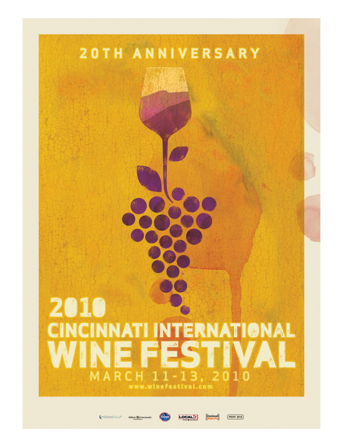 2010 Cincinnati International Wine Festival Poster By Don Aberg At