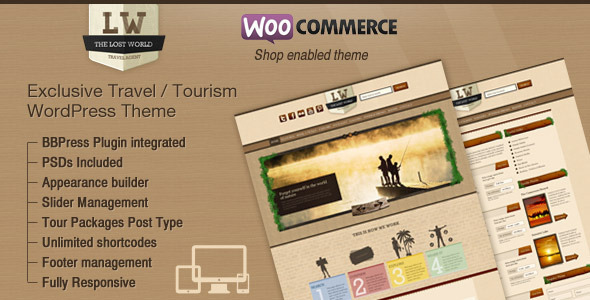Lost World - Travel, Hotel Woo Commerce WordPress by Design Themes ...
