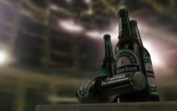 Heineken Bottles -C4D by Tero Heikkinen at Coroflot com