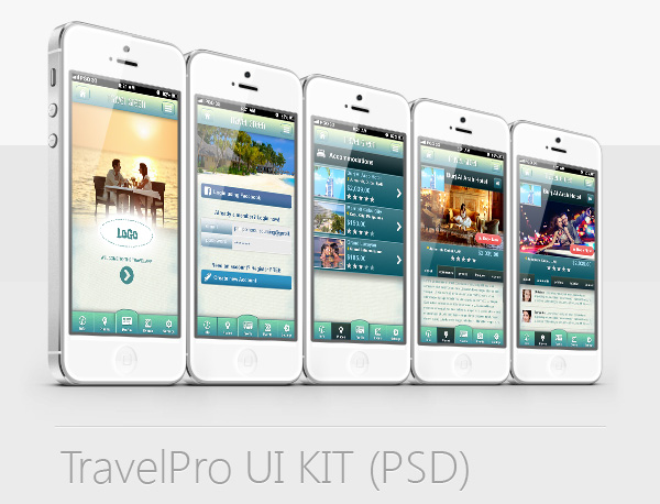 Travel UIKIT PSD iPhone App Design by Christopher John Cubos at